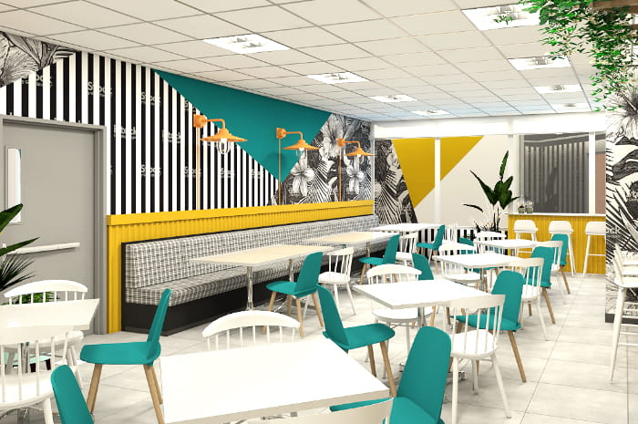 60 desks SM Aura Tower